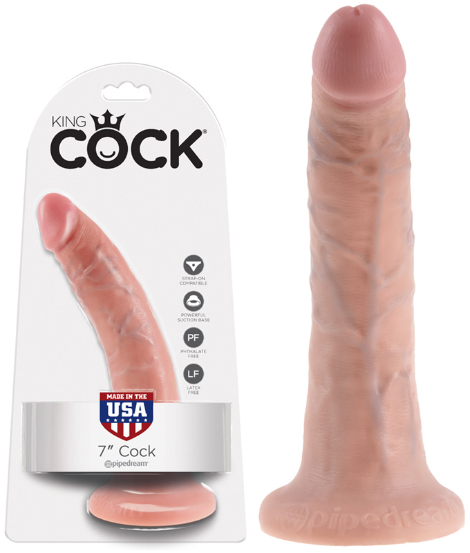 Gode anal à ventouse King Cock chair - 19 cm