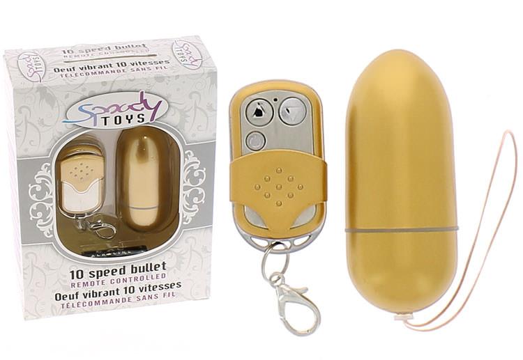 Oeuf vibrant radiocommandé Spoody One Gold - 10 vitesses