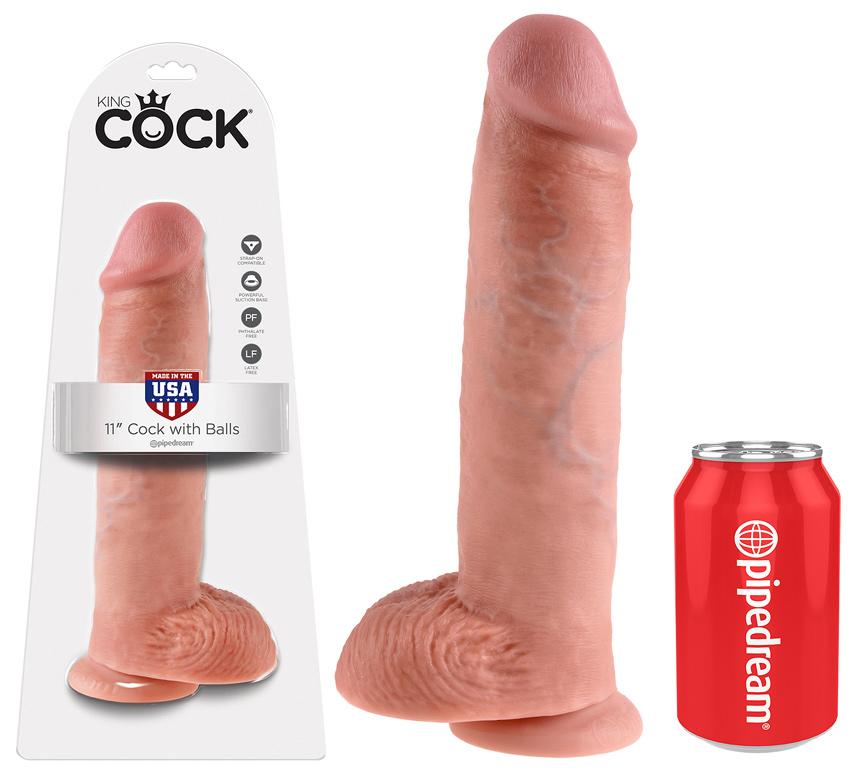 Gode réaliste géant King Cock 27 cm x 6,4 cm