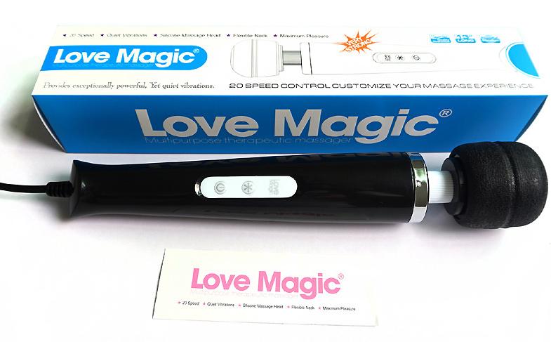 Vibromasseur Love Magic noir 18 vitesses