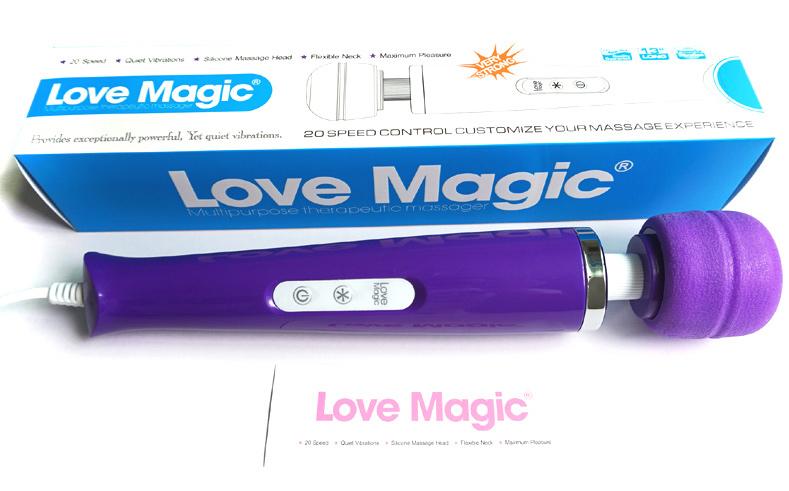 Vibromasseur Love Magic pourpre 18 vitesses