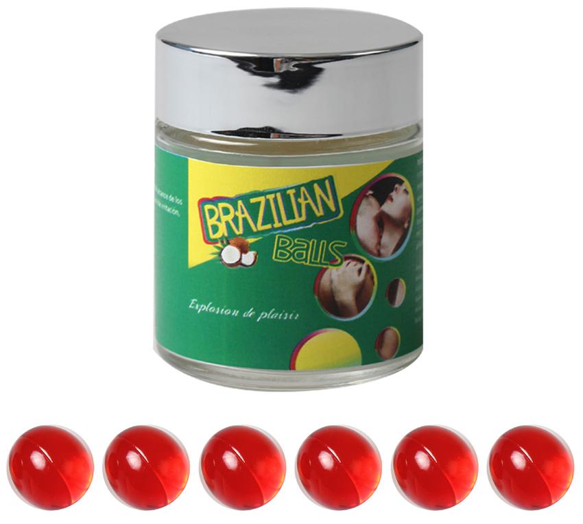 Boules Brésiliennes aromatisées Fraise X6
