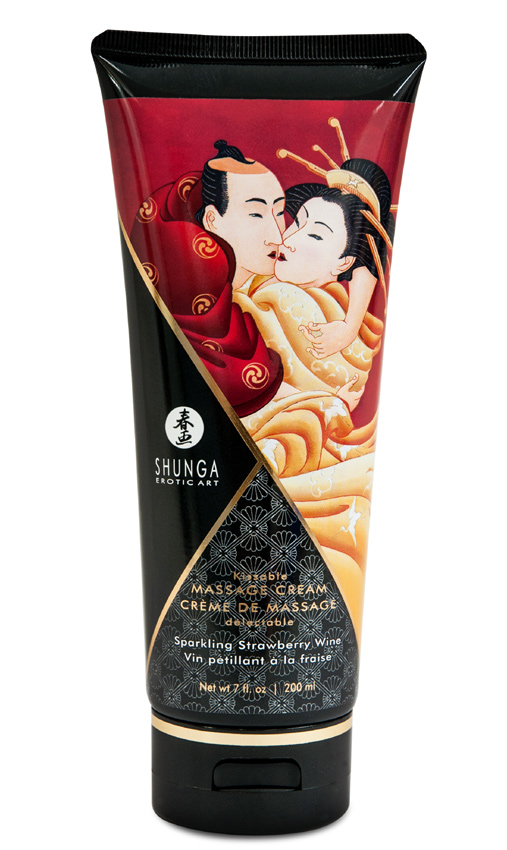 Crème de massage Fraise Vin Pétillant 200 ml