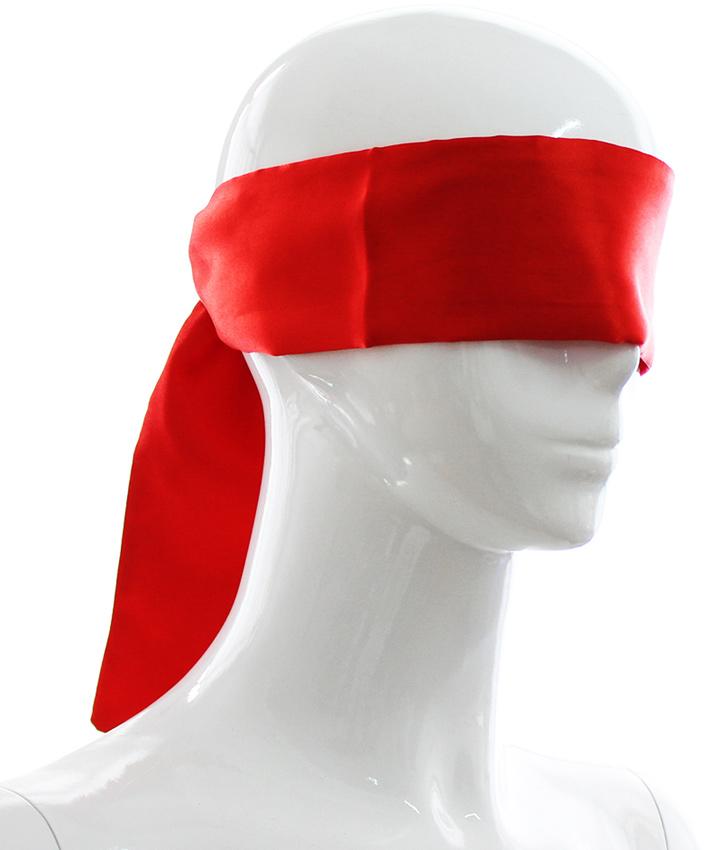 Bandeau en satin rouge 140 cm