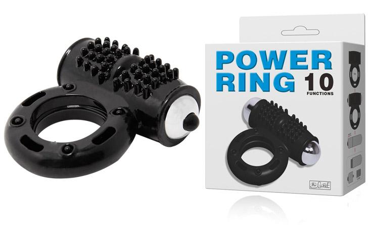 Anneau vibrant noir Power Ring 10 vitesses