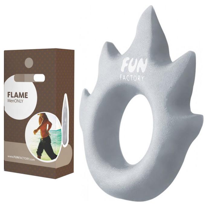 Anneau Love Flame Gris