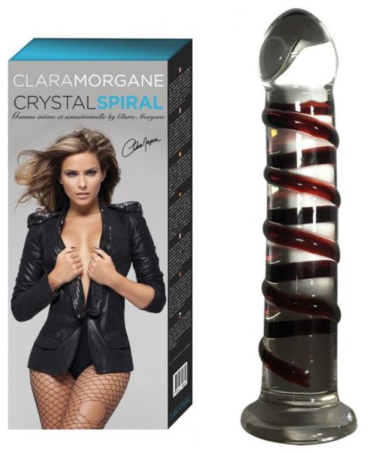 Gode en verre Crystal Spiral Clara Morgane