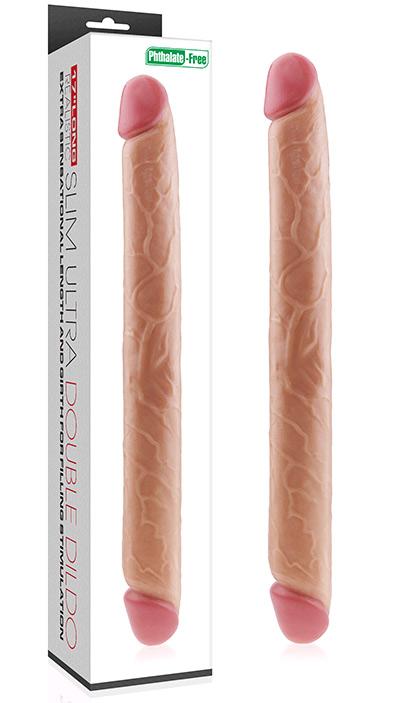 Double gode réaliste 44 cm