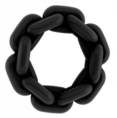 Anneau Chaine en silicone Noir No 4