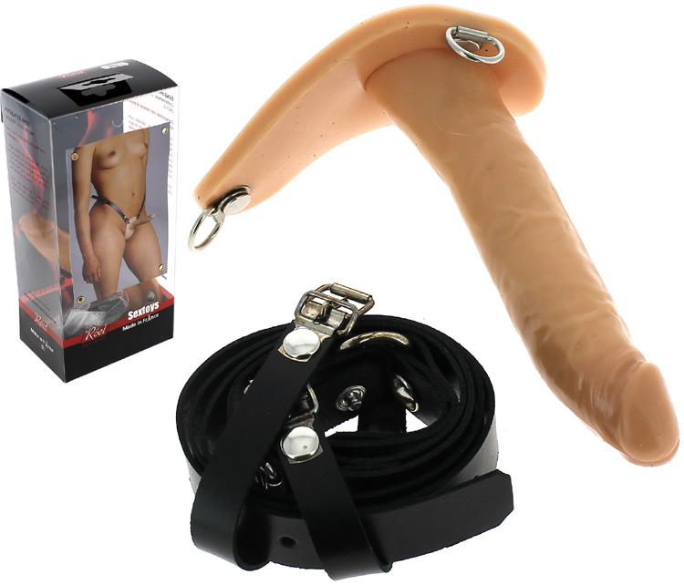 Gode ceinture anal cuir Reel