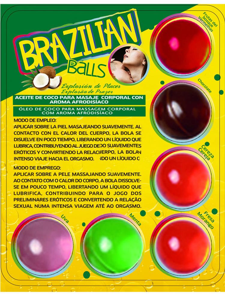 Boules Brésiliennes aromatisées par 6 différentes