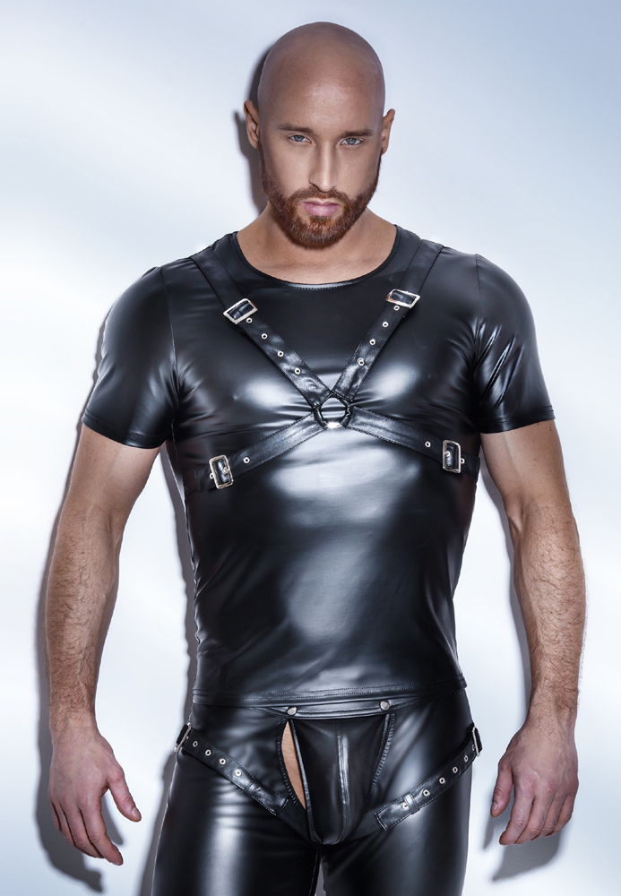 Tee Shirt Powerwetlook Harness H041