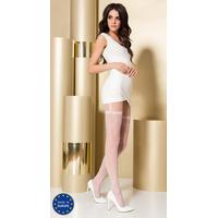 Collant Blanc Effet Porte Jarretelles TI0108