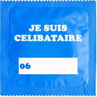 1 X préservatif Je Suis Célibataire Bleu