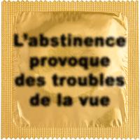1 X préservatif L'abstinence provoque des troubles