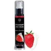 Lubrifiant et Massage Effet Chauffant Saveur Fraise Chantilly 50 ml