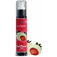 Lubrifiant Oral Pleasure Saveur Fraise Chocolat Blanc 50 ml