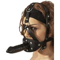5000159000000-2 Gode et baillon avec harnais facial en cuir