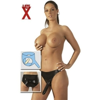 Gode double slip latex noir TU