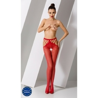 Collant Rouge Sexy S001 - TU