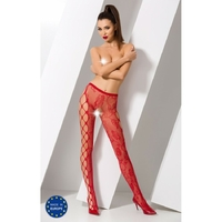 Collant Rouge Sexy S008 - TU