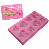 Bac à glaçons rose forme coeur