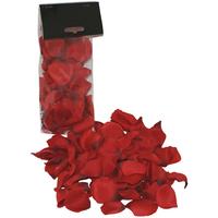 Pétales de roses en tissus rouge