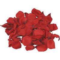1130667000000-2 Petales de roses en tissus rouge