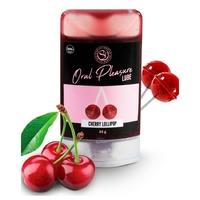 Lubrifiant Comestible Oral Pleasure Saveur Sucette Cerise - 34 gr