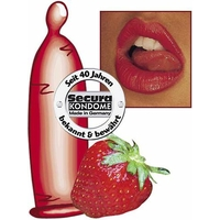 Préservatifs saveur fraise par 50