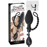 Plug anal gonflant et cockring Double Devotion