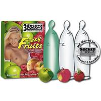 3 préservatifs colorés saveur fruitée
