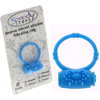 Cockring vibrant bleu en silicone