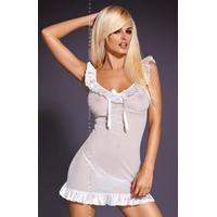Nuisette et string Electra blanc chemise L-XL