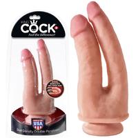Double Gode ventouse Toucher Peau King Cock