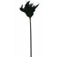 Plumeau noir sur tige - 42 cm