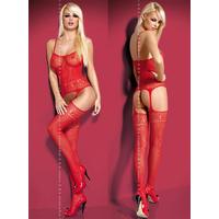 Combinaison Obsessive rouge Bodystocking G307 XL-XXL