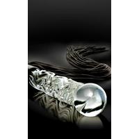5000351000000-2 Gode fouet en verre Icicles No. 38 - 65 cm