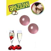 Boules Brésiliennes aromatisées Fraise - Vin Pétillant par 2