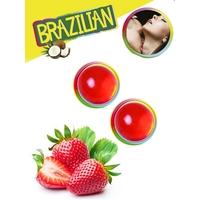Boules Brésiliennes aromatisées Fraise par 2