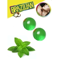Boules Brésiliennes aromatisées Menthe par 2
