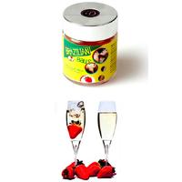 Boules Brésiliennes aromatisées Fraise - Vin Pétillant par 6