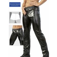 Pantalon noir coupe Jean effet mouillé 46 S