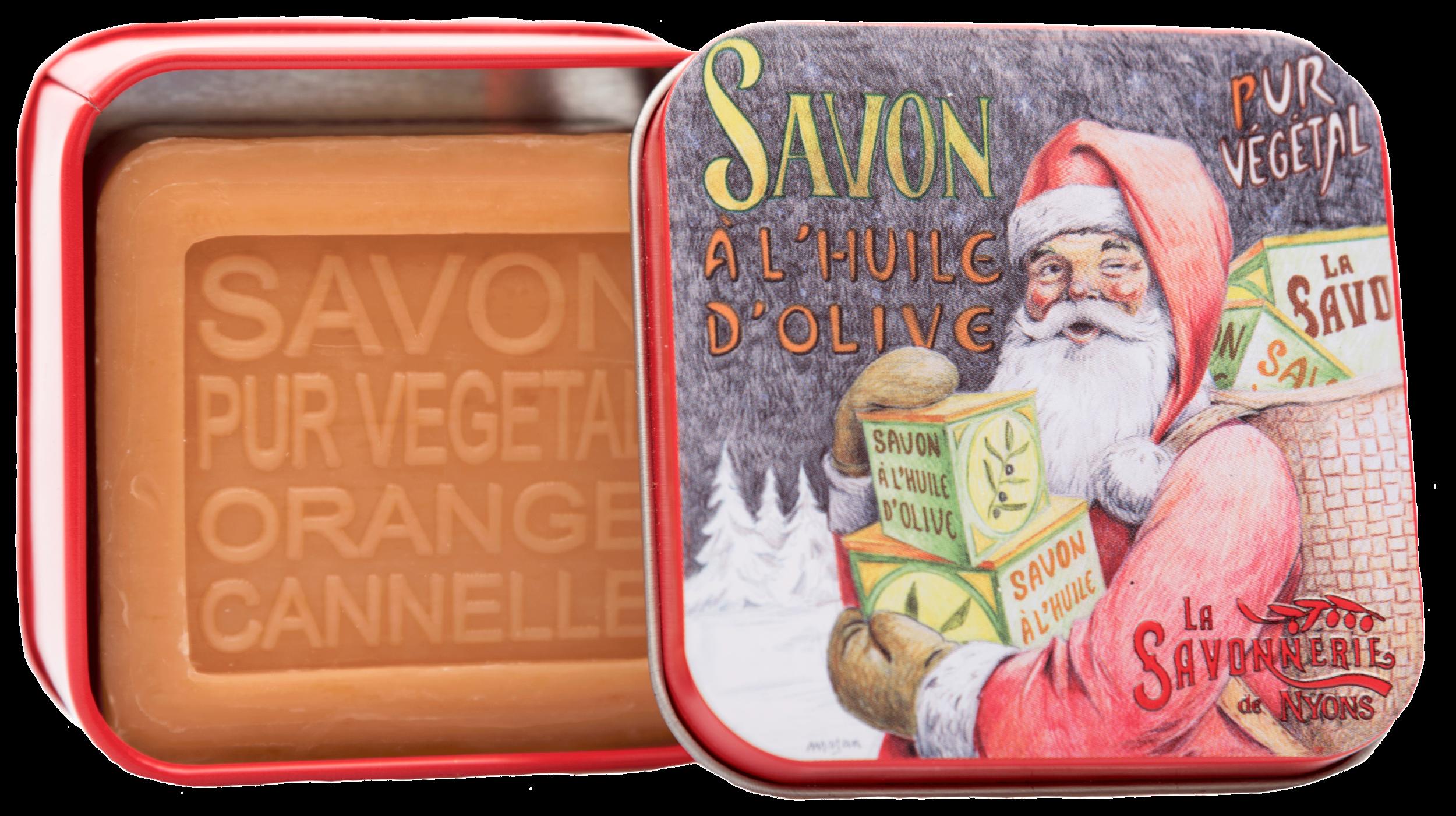 Boite Métal Père Noël 1 & Savon 100g