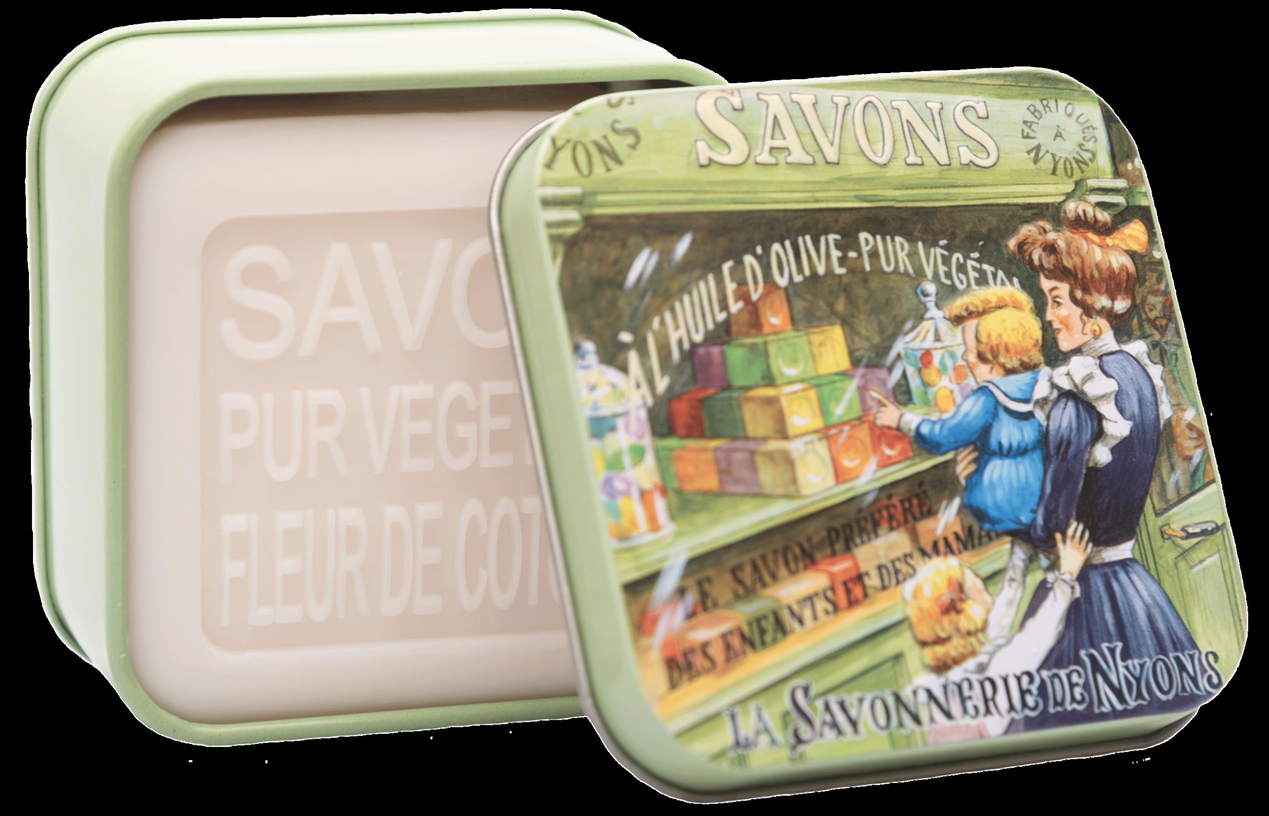 Boîte Métal Vitrine & Savon 100 g