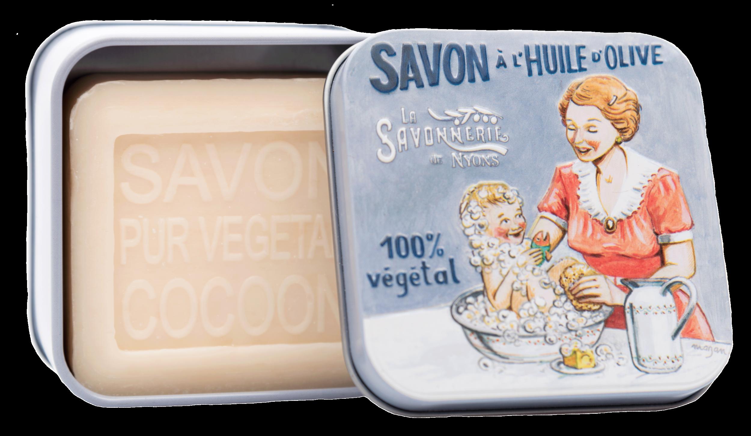 Boite Métal Bébé et Maman & Savon 100 g