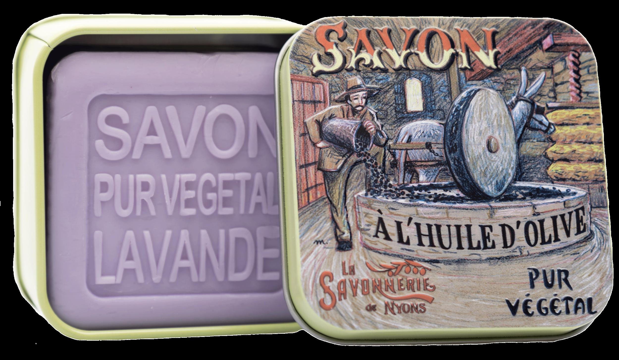Boite Métal Moulin & Savon 100g