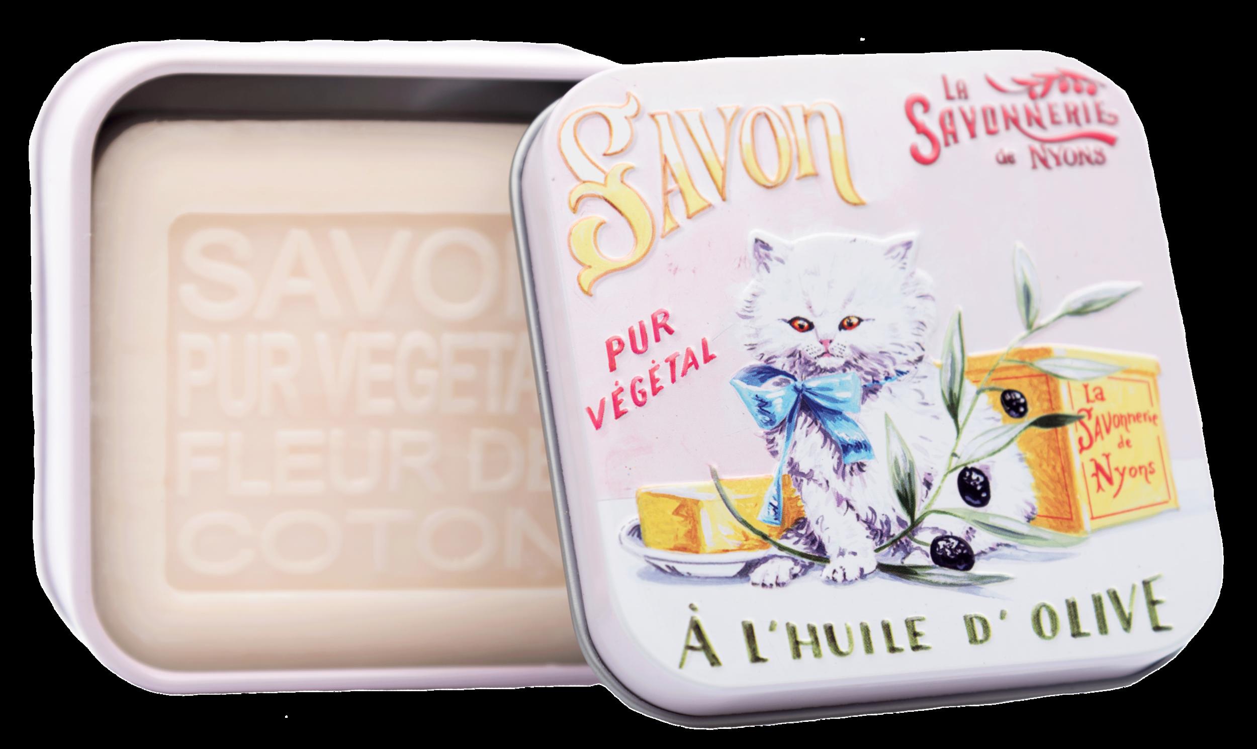 Boite Métal Chat Persan & Savon 100 g