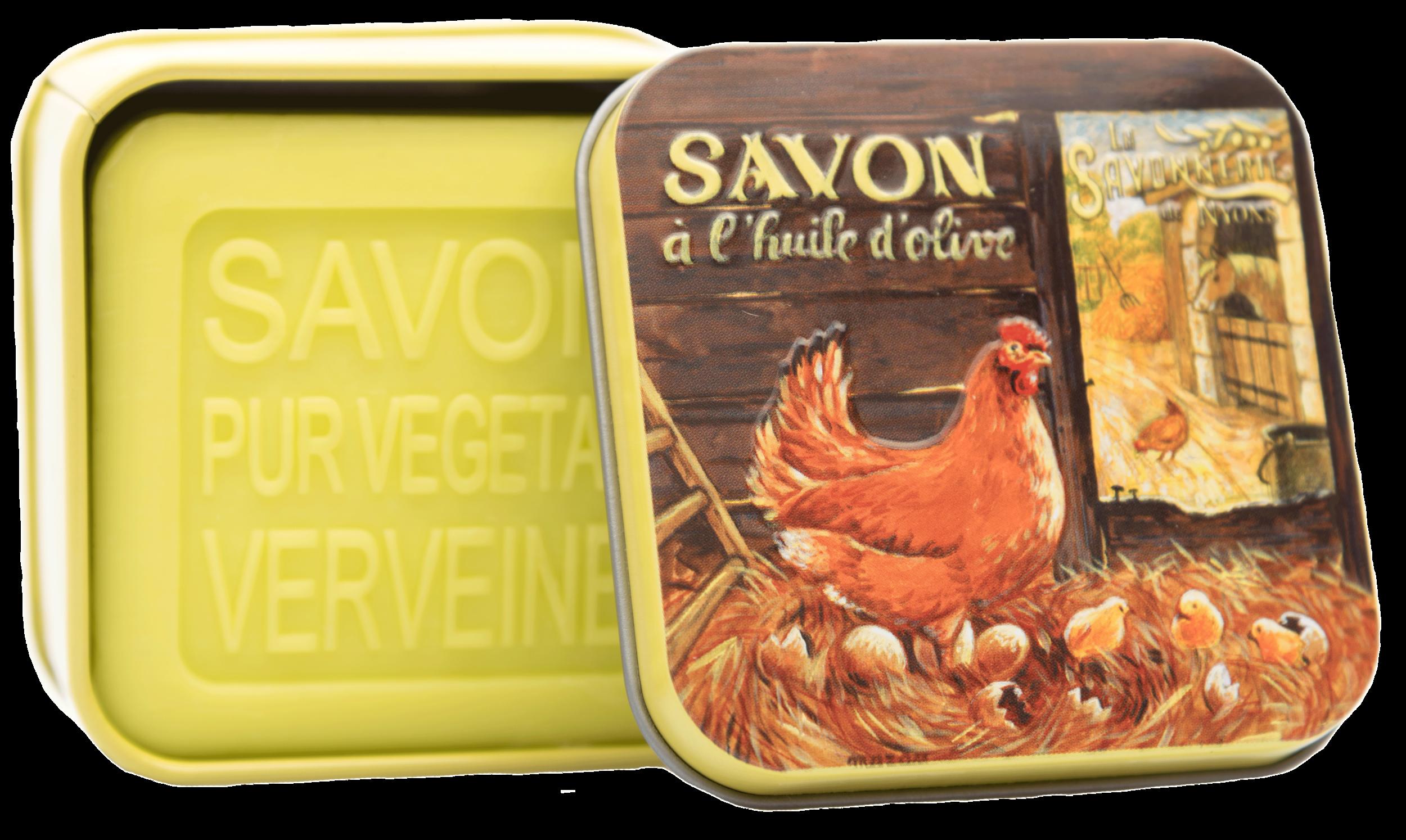 Boîte Métal Poule & Savon 100g