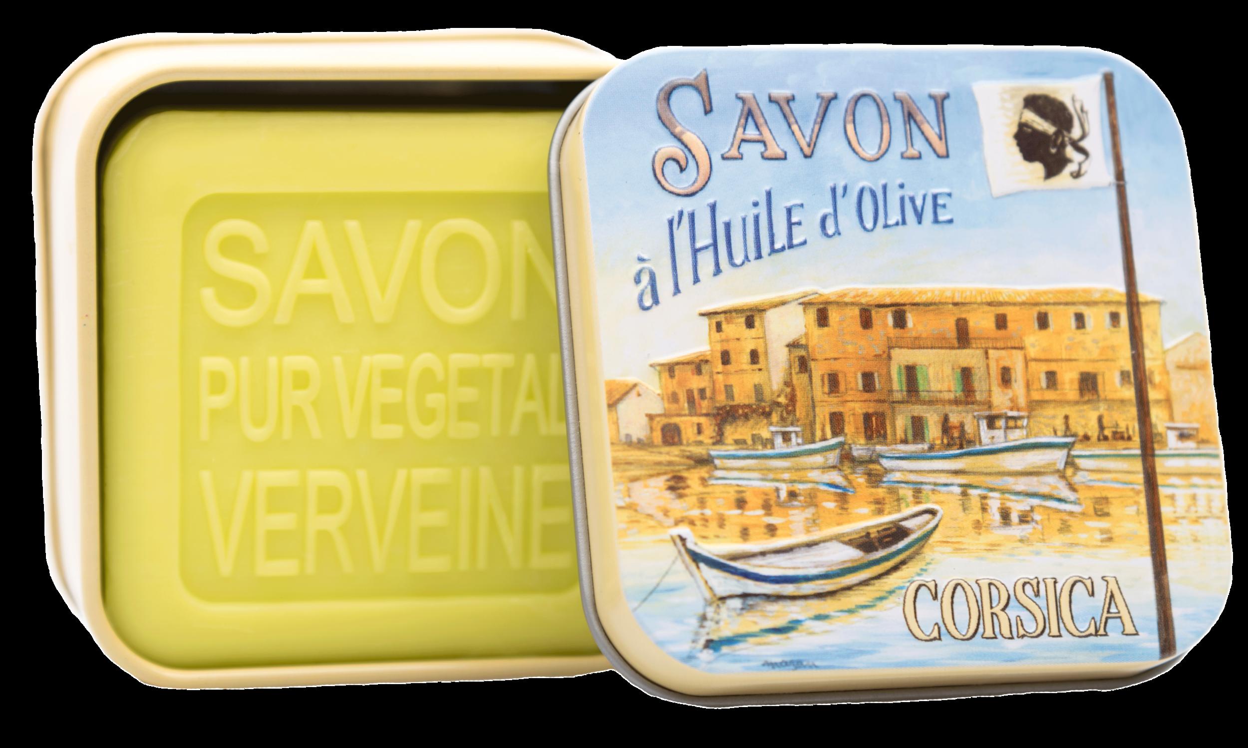 Boîte Métal Port Corse & Savon 100g